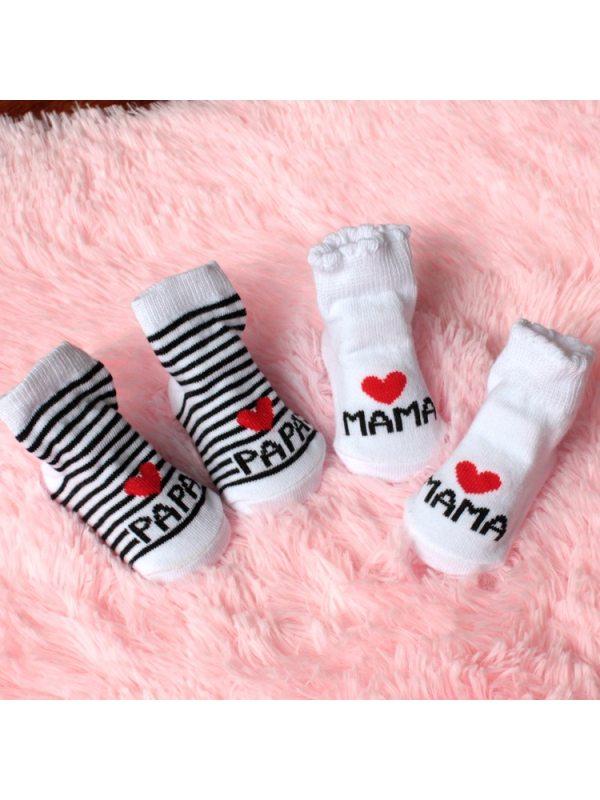 Letter Embroidered Baby Socks