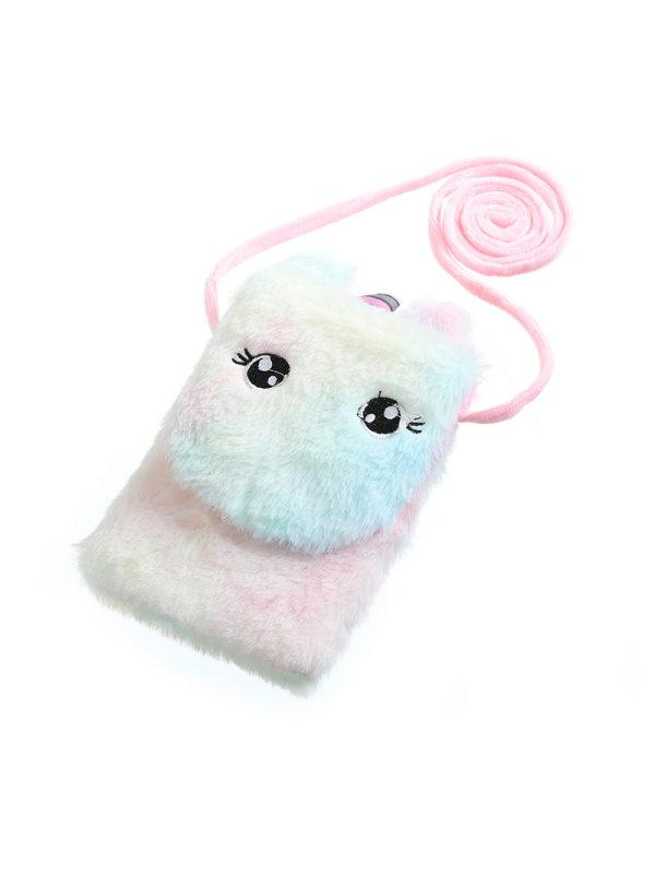 Cute Colorful Unicorn Mini Plush Bag