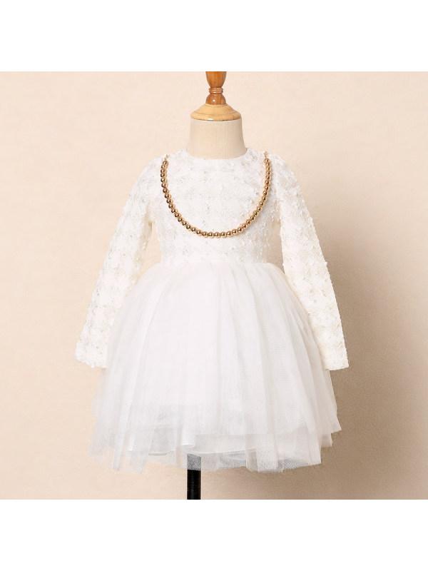【2Y-9Y】Swallow Gird  Bowknot Tulle Dress