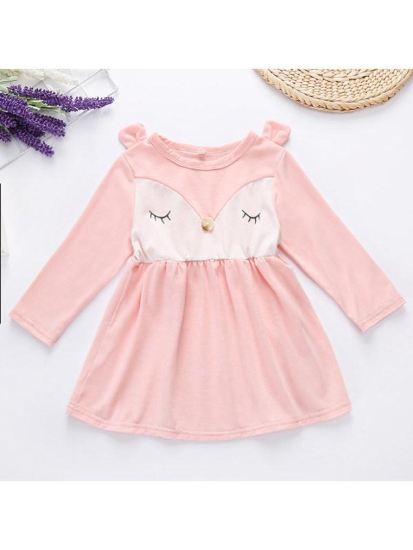 【3M-24M】Cute Fox Long Sleeve Dress