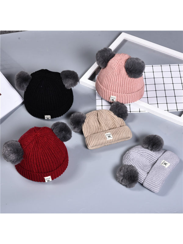 Kids Double Thick Knitted Hat