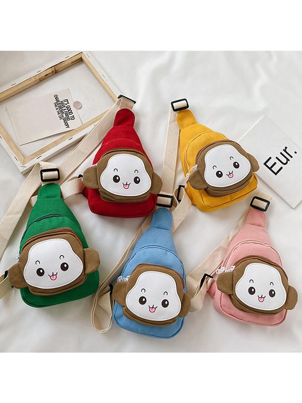 Childrens Cute Little Monkey Animal Messenger Bag