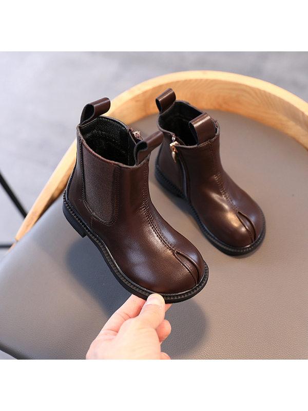 Girls British Style Short Martin Boots