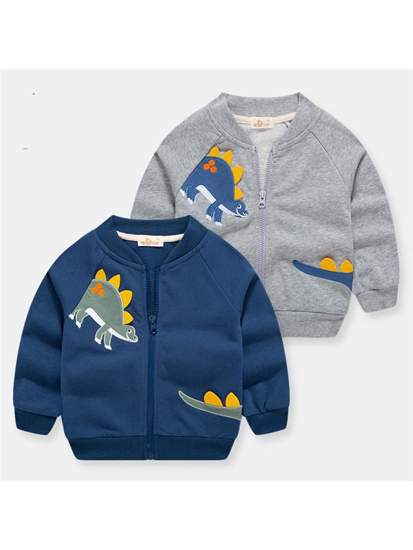 【18M-9Y】Boy Cartoon Dinosaur Zipper Jacket