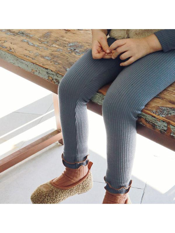 【18M-11Y】Girls Double Layer Fungus Leggings