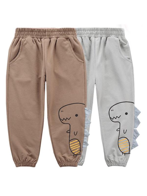 【18M-9Y】Boys Cotton Partial Flexibility Trousers