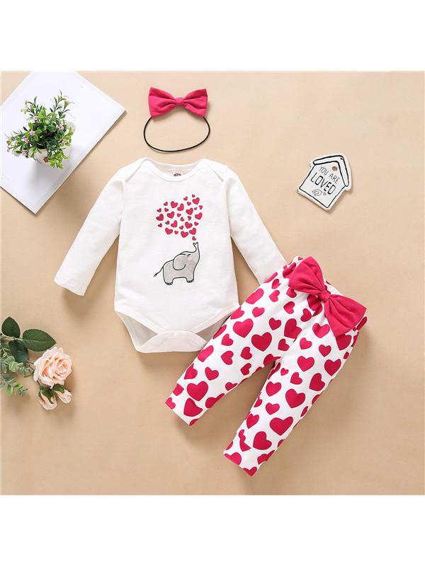 【6M-3Y】Animal Love Baby Long Sleeve Suit