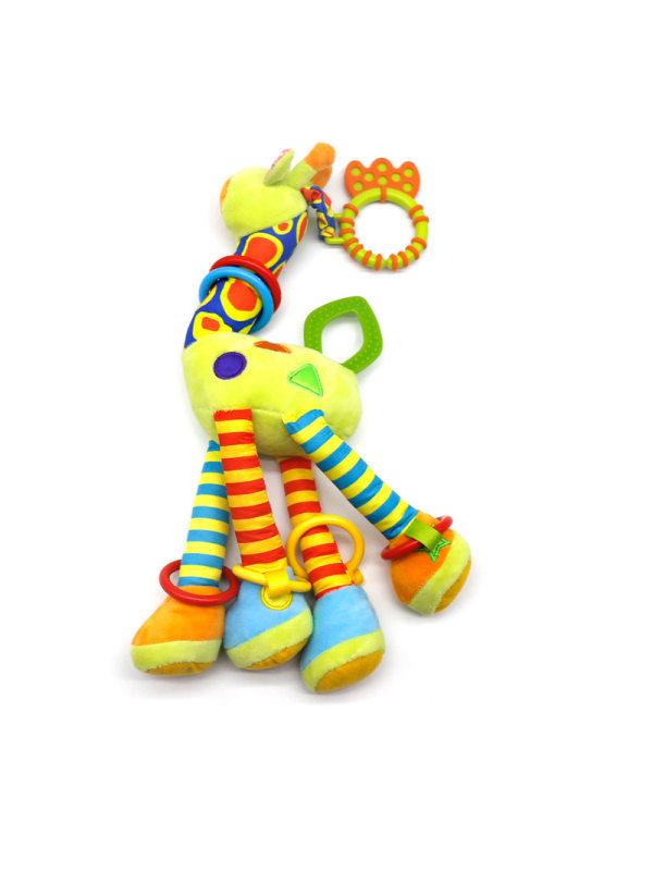 Giraffe Hanging Rattle Toys Soft Activity Crib Stroller Toys