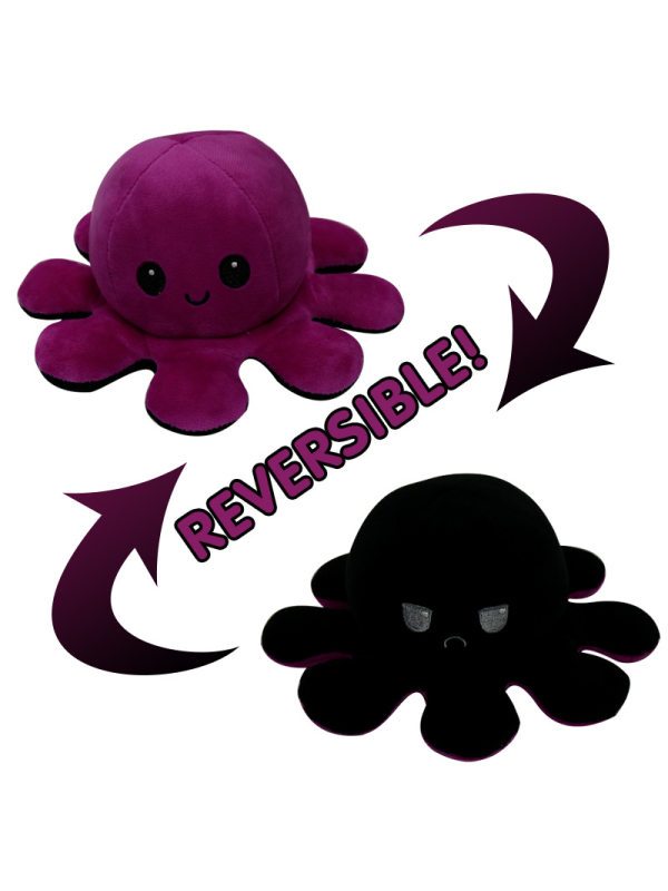 Soft Cute Reversible Flip Octopus Stuffed Plush Doll