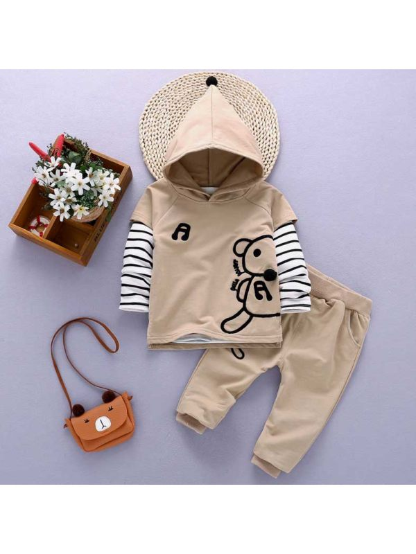 【12M-5Y】Three-piece Baby Boy Spring And Autumn Long Sleeve Suit