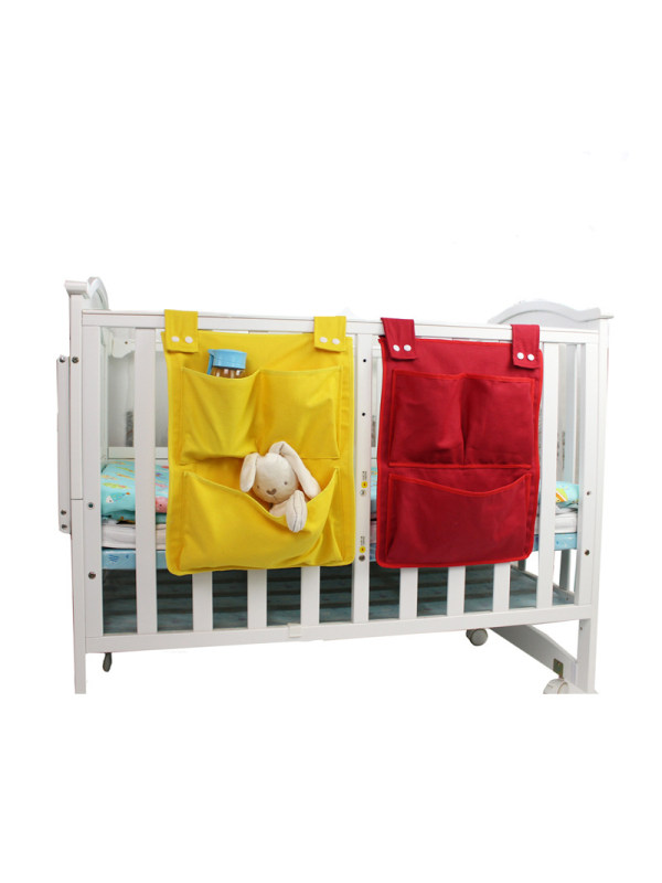 Small Canvas Multi-compartment Layered Crib Hanging Bag