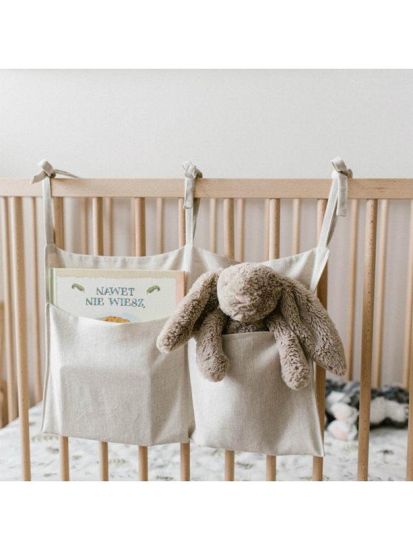 Multifunctional Linen Storage Bag For Crib