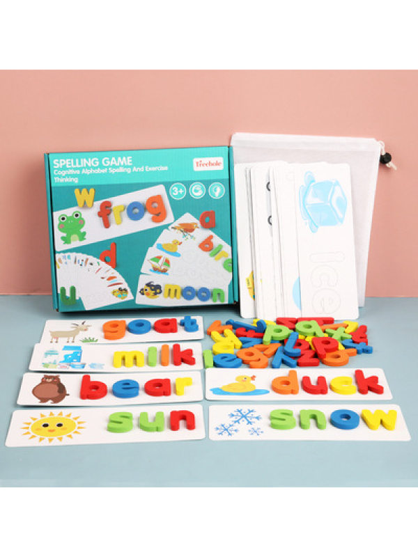 Kids English Letter Recognition Word Spelling Puzzle