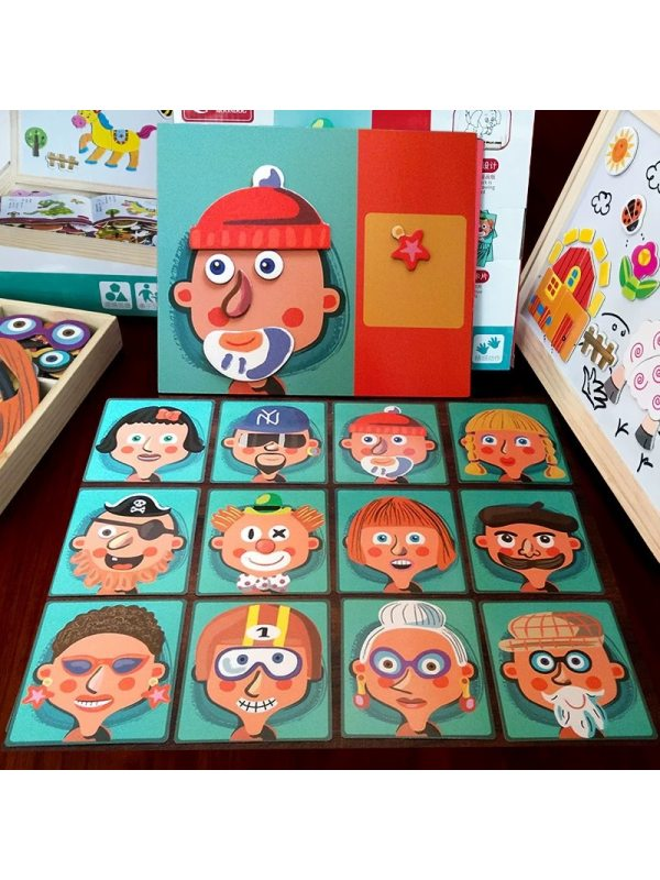 Kids Puzzle with Magnetic Stickers