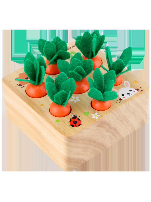 Wooden Simulation Radish Pulling Toy