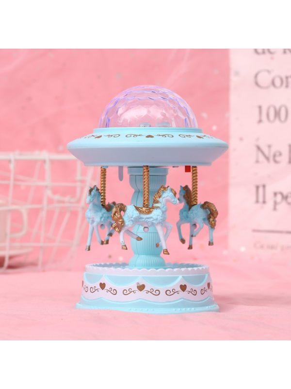 Kids Diamond Shape Cute Carousel Music Box