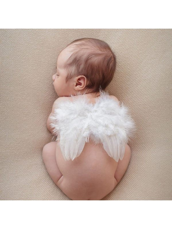 Kids Angel Feather Wings Photo Costume