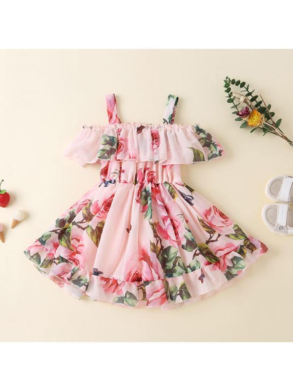 【12M-5Y】Girls Sling Chiffon Flower Dress