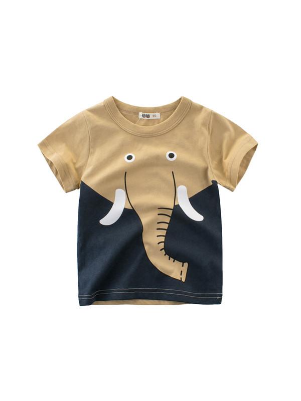 【18M-9Y】Short Sleeve Boys Cartoon T-Shirt