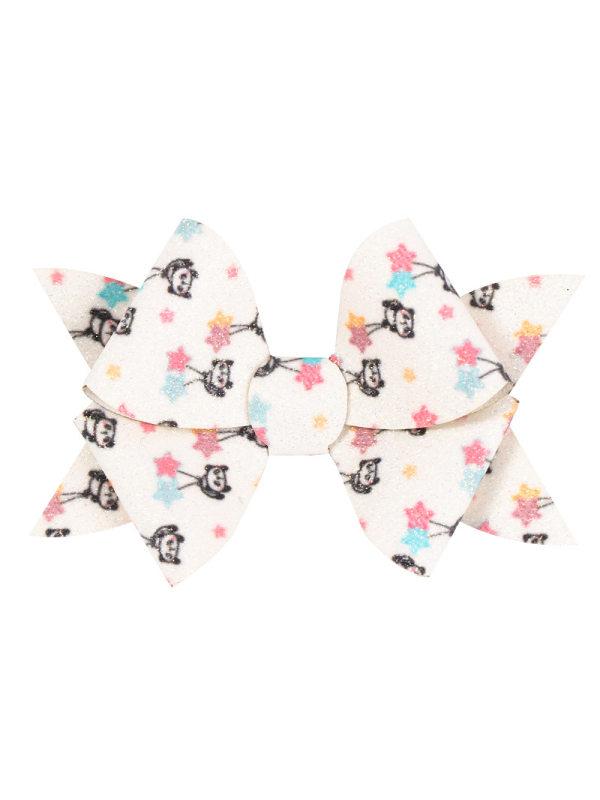 Girls Sequins Cute Glitter Bow Hairpin