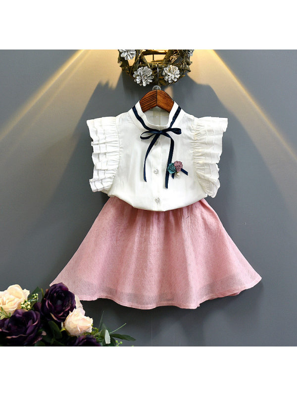 【12M-7Y】Girl Shirt Short Skirt Suit