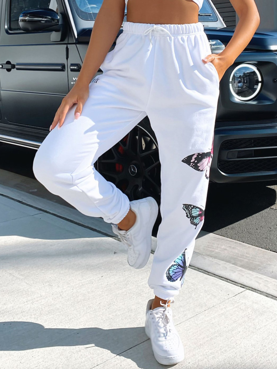 Image of Butterfly print track pants