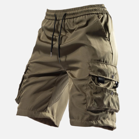 Mens Outdoor Sports Waist Drawstring Quick-Drying Shorts