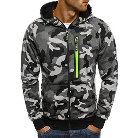 Fashionmens Camouflage Pattern Sweatshirt