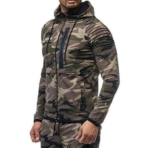 Street Hooded Camouflage Sweatshirt Lc89