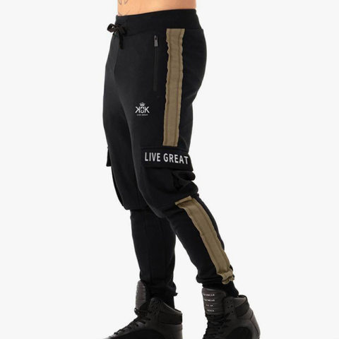 Mens Overalls Multi-pocket Slim Casual Trousers