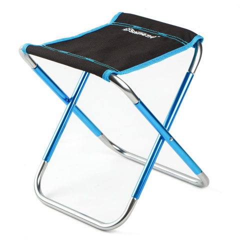 Outdoor folding stool 7075 aluminum alloy fishing chair barbecue stool folding chair portable train horse camping chair