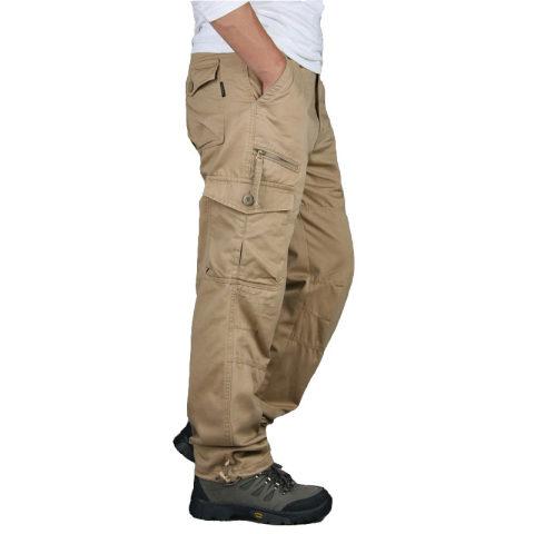 Mens Straight Leg Big Pocket Trousers