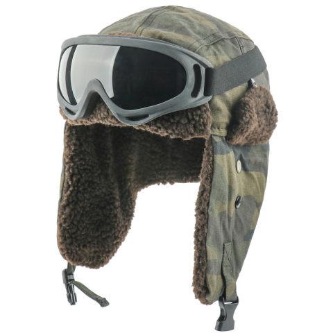 Outdoor velvet padded ear protection ski hat