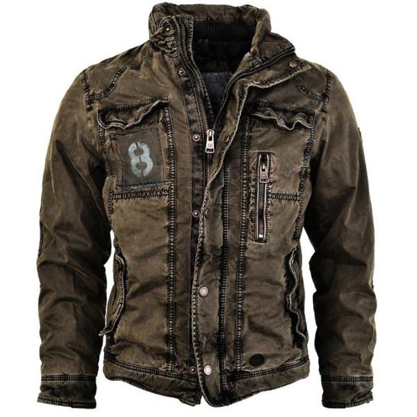 Mens Retro Washed Warm Jacket