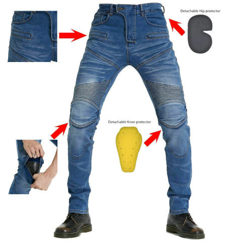 Mens Pk718 Protective Gear Four-piece Jeans Professional Racing Pants Motorcycle Pants Motorcycle Pants