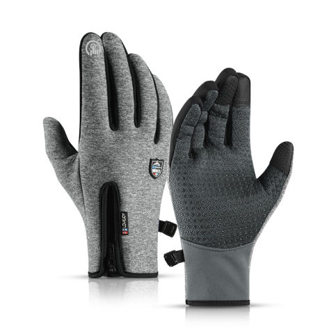 Outdoor windproof and waterproof touch screen warm fleece gloves