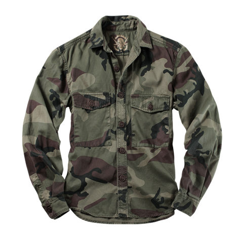 Mens Outdoor Camouflage Overalls Long Sleeve Shirt