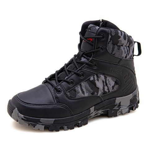 Outdoor military rubber sole tactical boots