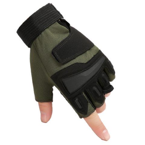 Mens outdoor tactical half finger gloves