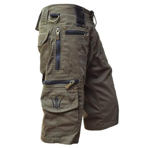 Men's outdoor sports zipper pocket tactical shorts
