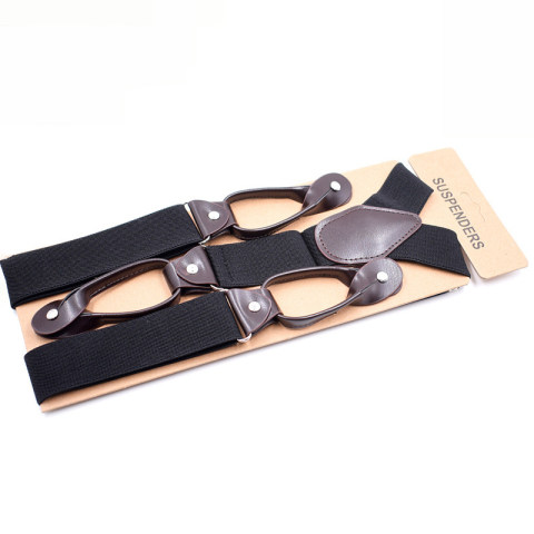 Men's casual 6 clip button suspenders