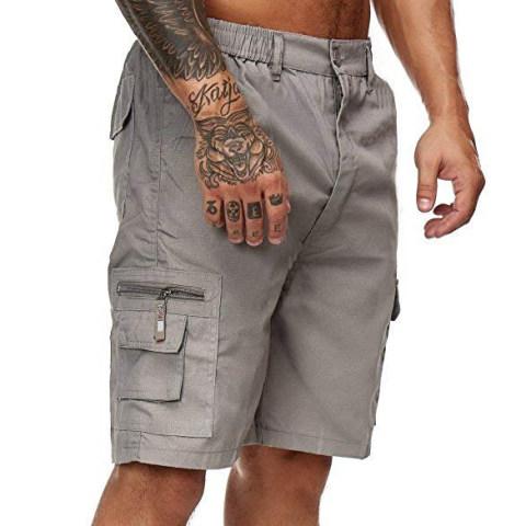 Men's outdoor straight leg multi-pocket cargo shorts