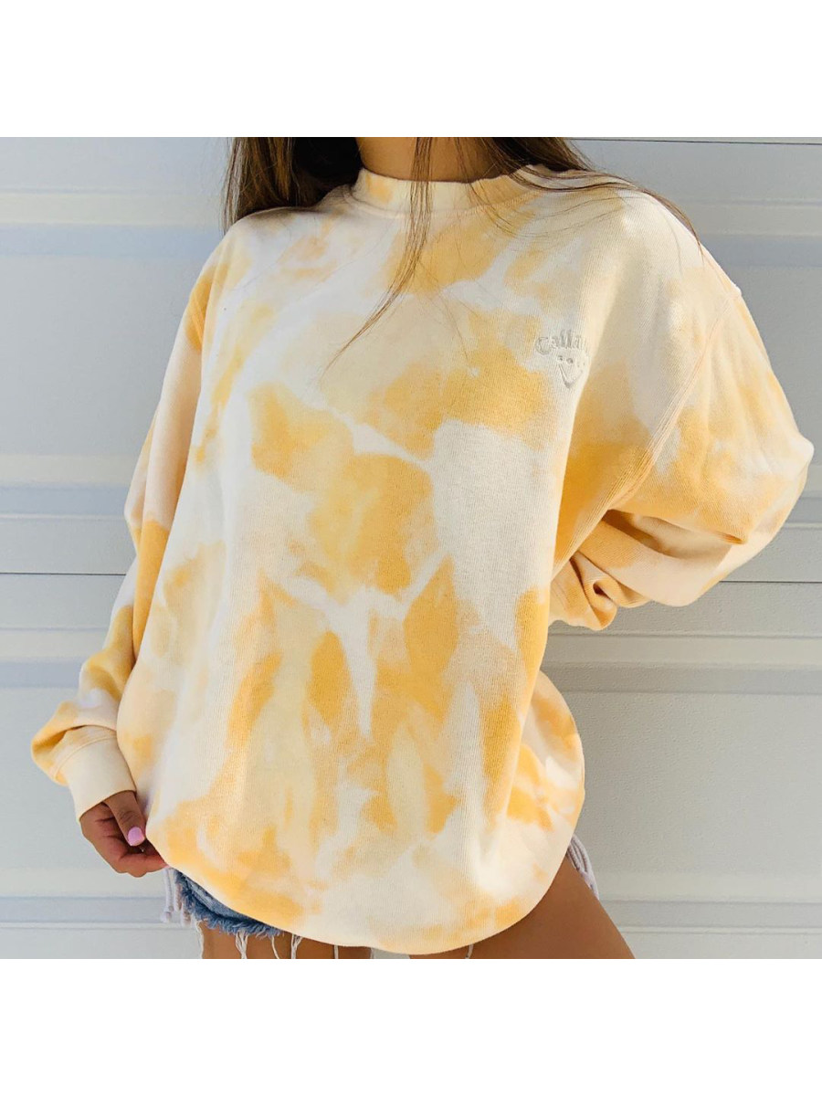 Image of Basic casual pullover tie-dyed sweatshirt