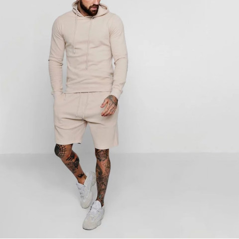 Mens fashion leisure solid color summer suit