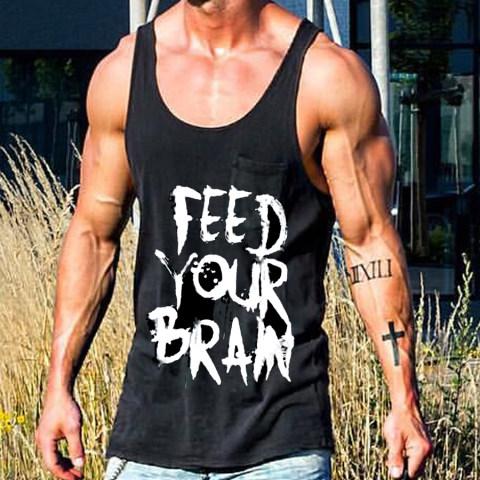 Fashion casual letter printed vest men