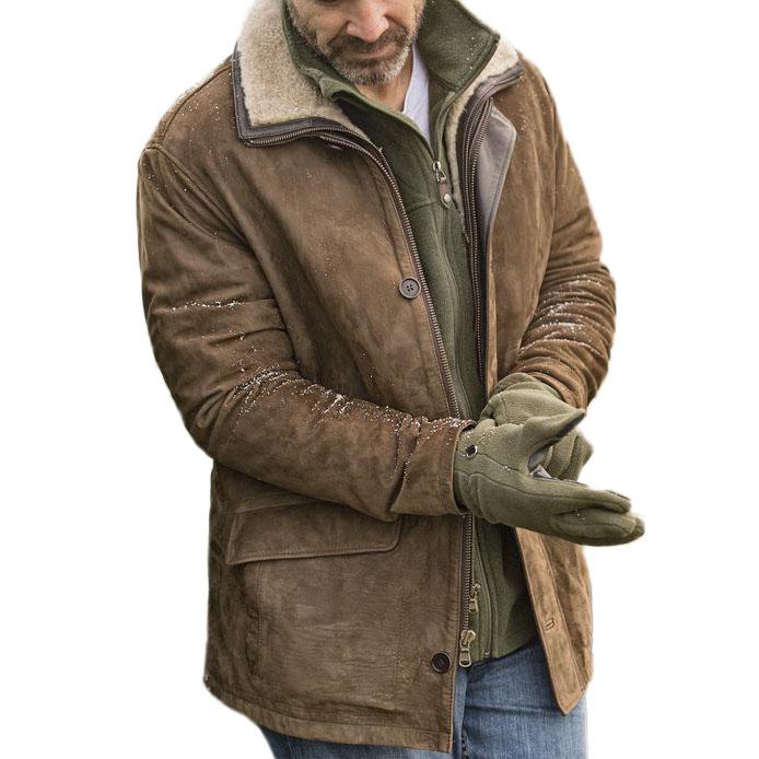 мужская уличная теплая хлопковая куртка в стиле ретро