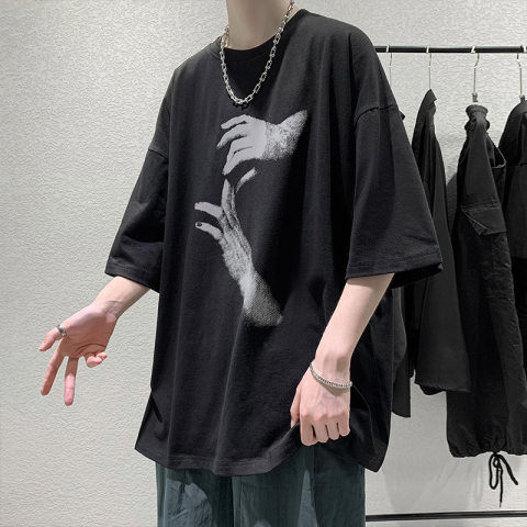 printed loose t shirt