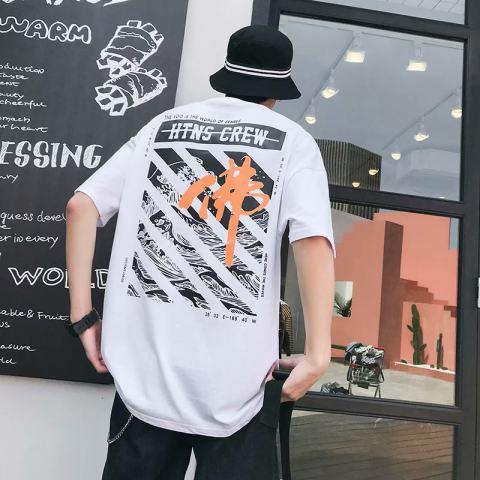 Trendy hip hop t shirt
