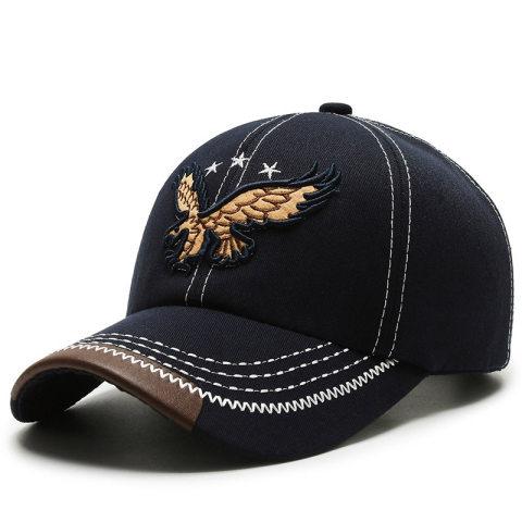 Fashion outdoor sports eagle embroidery baseball cap