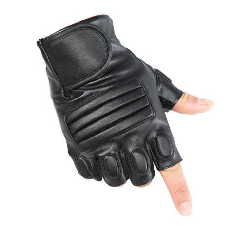 Leather half finger tactical gloves
